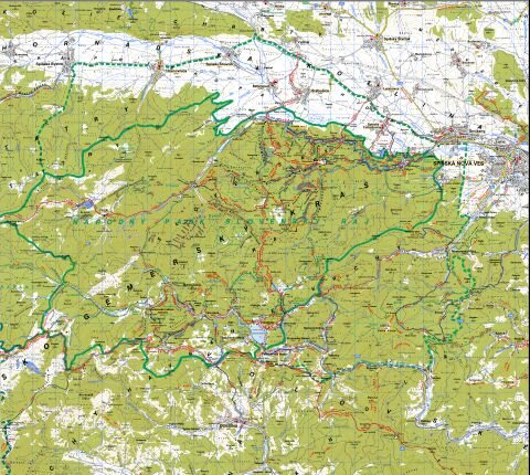 Slovensky Raj Turisticka Mapa 1 50000